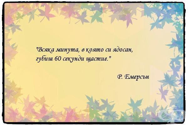 """""""Всяка минута, в която си ядосан, губиш 60 секунди щастие."""" - Р. Емерсън"""