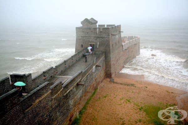 Великата китайска стена завършва точно тук.