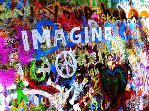 Стена, покрита с графити на Джон Ленън, ще събуди хипито вътре във вас!
