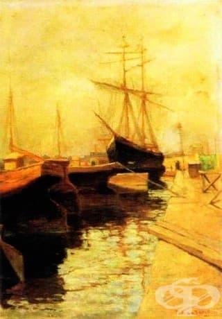 "Василий Кандински, ""Пристанището на Одеса"", 1898"