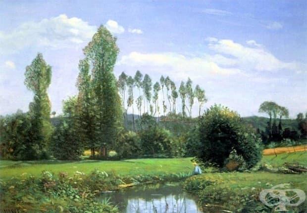 """Моне, """"Изглед от Руелс,"""" 1858"""