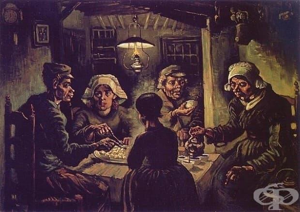 """Винсент Ван Гог, """"Ядящите картофи,"""" 1885"""