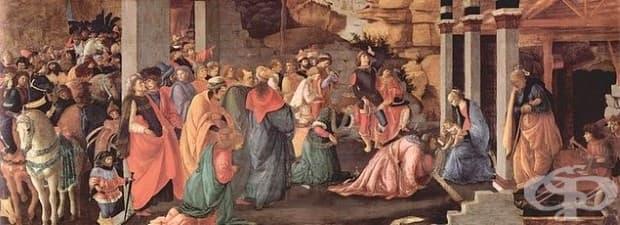 """Сандро Ботичели, """"Поклонението на влъхвите"""", 1465-1467"""