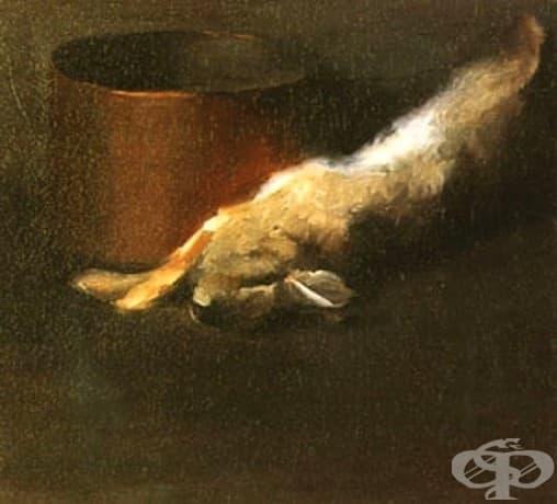 """Джорджия О'Кийф, """"Мъртвият заек с медената купа,"""" 1908"""