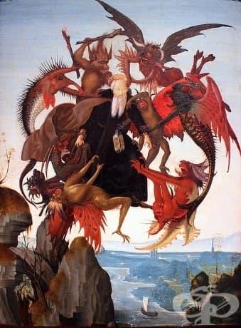 "Микеланджело, ""Мъчението на Свети Антоний"", 1487"