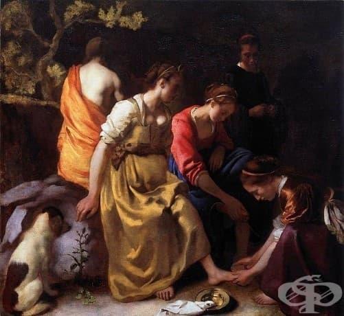 """Йоханес Вермеер, """"Диана и нейните сподвижници"""" 1653-1654"""