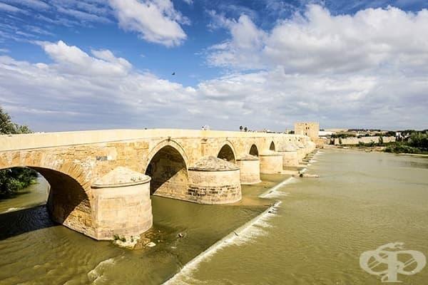 Римският мост в Кордоба, Андалусия, Испания (Дългият мост на Волантис)