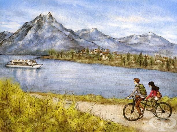 Пътуване с колело до Швейцария