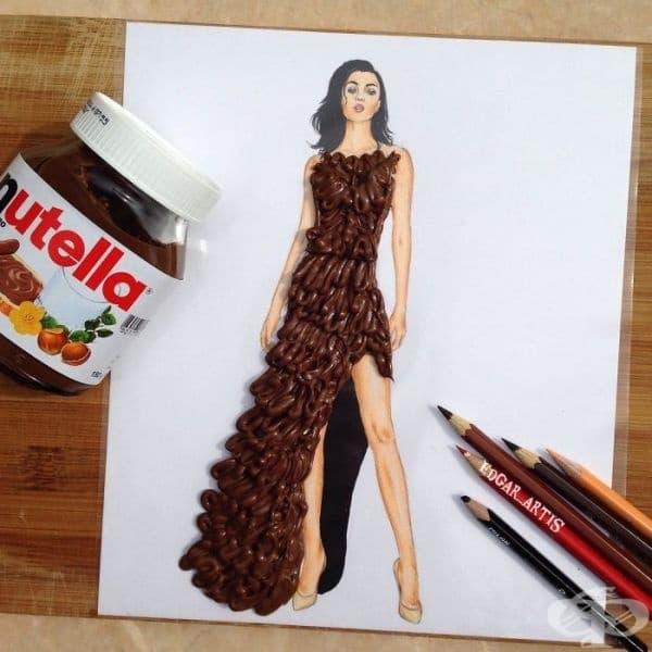Американски моден илюстратор създава зашеметяващи рокли от битови предмети
