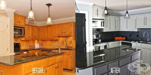 Ако не сте доволни от начина, по който шкафовете ви изгледат, можете да ги боядисате, за да дадете на своята кухня усещане за ремонт на ниски цени.