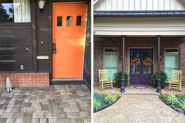 Друга идея е да боядисате вратите на къщата си.