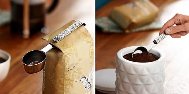 Лъжичка, с която затваряте пакета с кафе