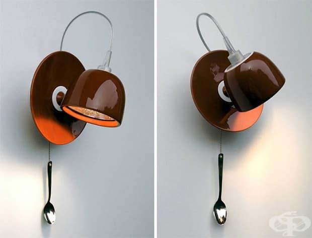 Лампа във формата на чаша за кафе