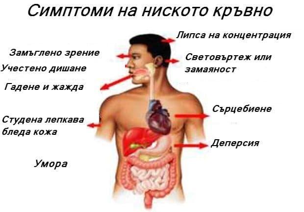 Какви са симптомите на ниското кръвно?