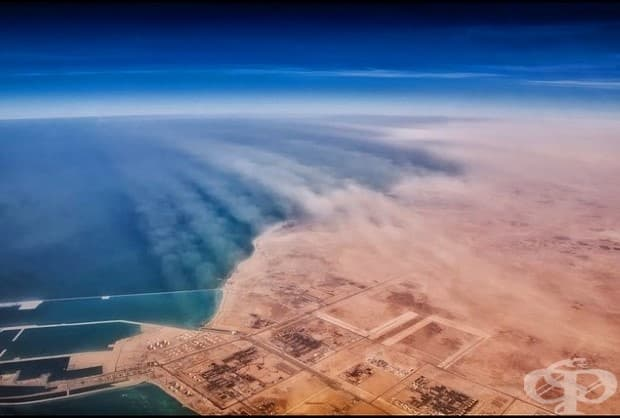 Пясъчна буря над Катар