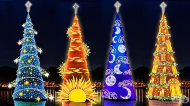 Рио де Жанейро, Бразилия. Рио може да се похвали с най-голямото коледно дръвче – цели 82 м. Построено е върху носеща се в езерото Лагоа платформа. Всяка година дървото бива украсено по различен начин и светлинното шоу и фойерверките също си заслужават.
