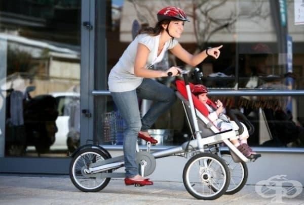 Колело, което е и детска количка.