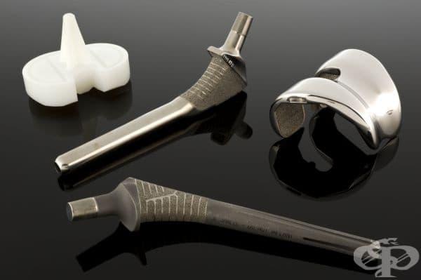 """Изкуствена коленна става, създадена от компания """"Sulzer Orthopedics Inc."""""""