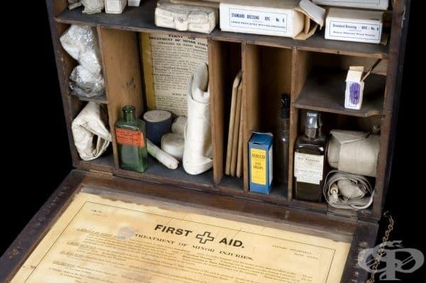 Комплект за оказване на първа помощ на работното място от 1924г.