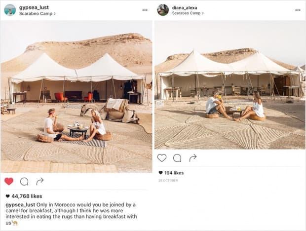 Двойка осъзнава, че някой ги следи по света и копира снимките им