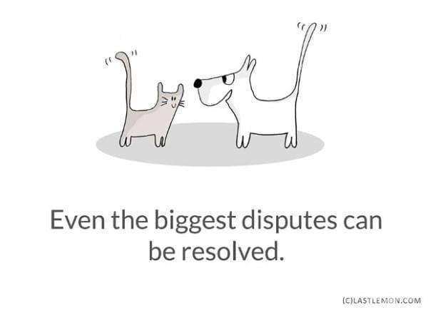 Дори най-големият конфликт може да бъде решен.
