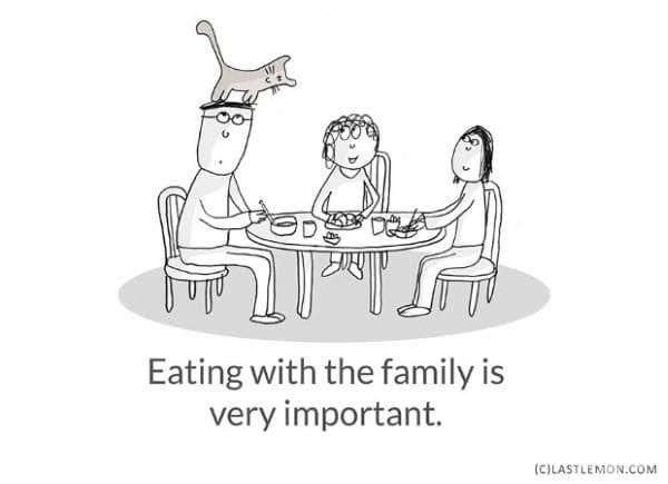 Да се храниш със семейството е много важно.