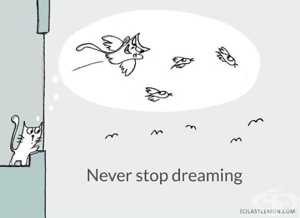 Никога не спирай да мечтаеш.
