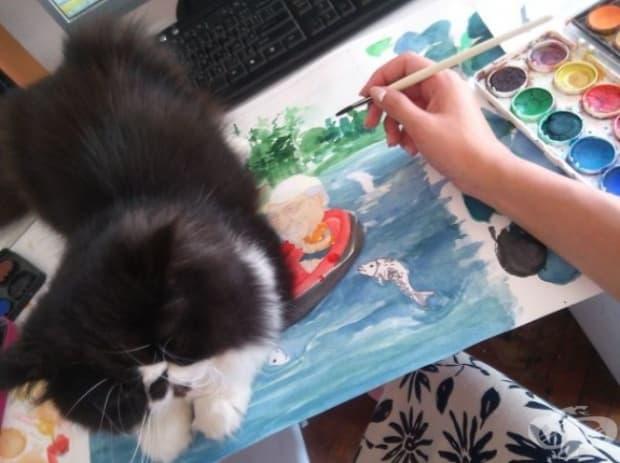 Е, ти наистина си ужасен художник. Не мога да гледам тази картина повече.