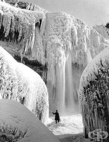 Ледена прелест - водопадът Ниагара в началото на XX век