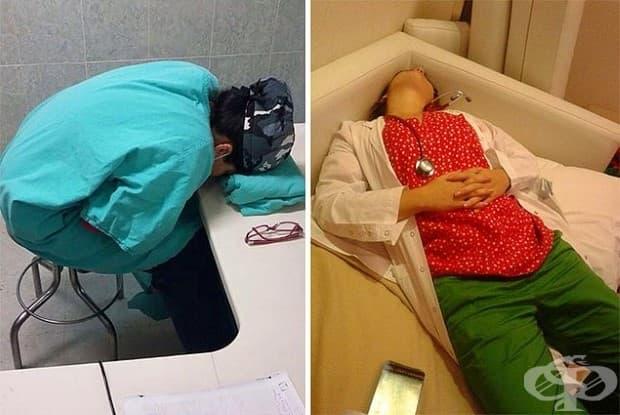 Не е първият път, когато виждаме снимки на лекари, които спят на работното място, но трябва да кажем, че след 28 часа работа докторът Хенг заслужава приятна дрямка!