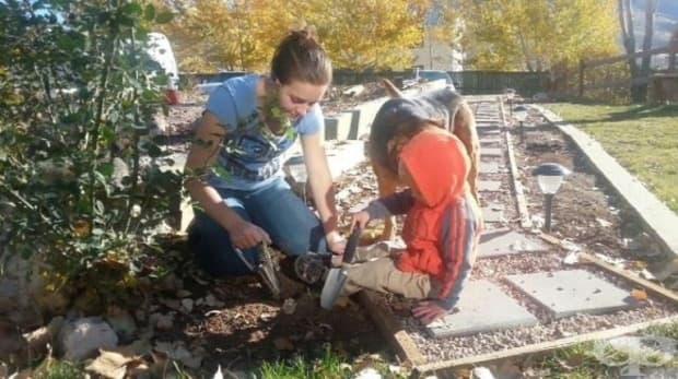 Градинари в действие.