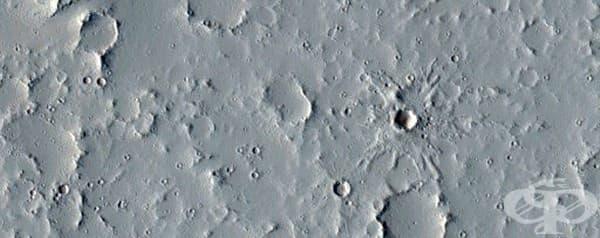 Регионът Тарсис – част от Марс, в която има най-много вулкани.