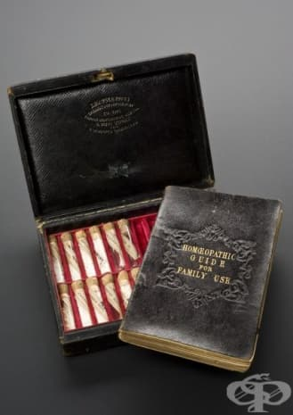 Медицински сандък с хомеопатични лекарства от 1880г.