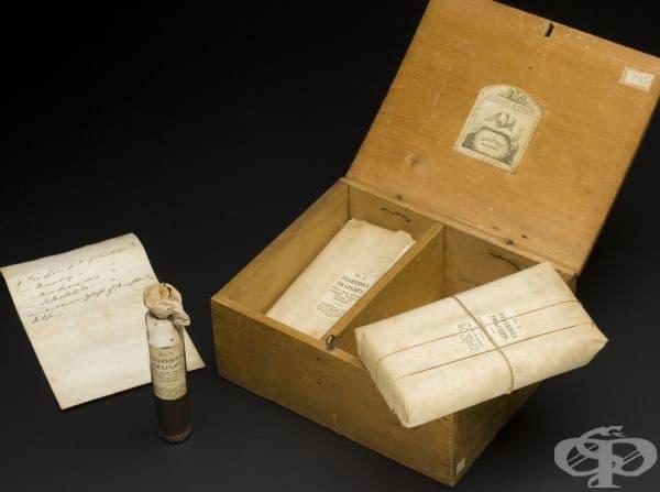 Медицинско ковчеже, съдържащо лекове срещу холера от 1849 година