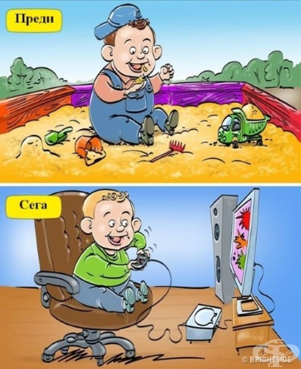 Преди и сега: Игрите