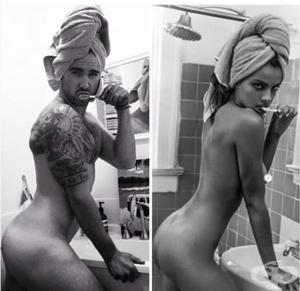 25 мъже пресъздават женските снимки, от които вече ни е омръзнало