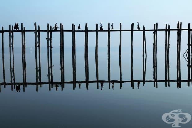 Мостът Ю Бийн в Мианмар