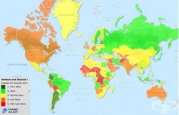 Най-сексапилните жени по държави