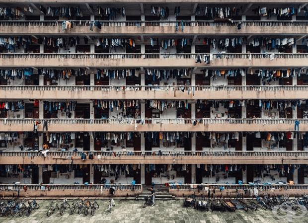 Втора награда, категория Градове / Уинг Ка Х. / Общежитията на китайски университет