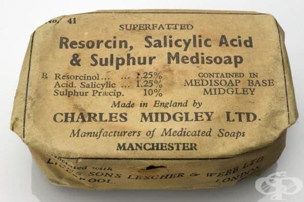 """Английски медицински сапун от 1940 година на компания """"Charles Midgely Ltd."""""""