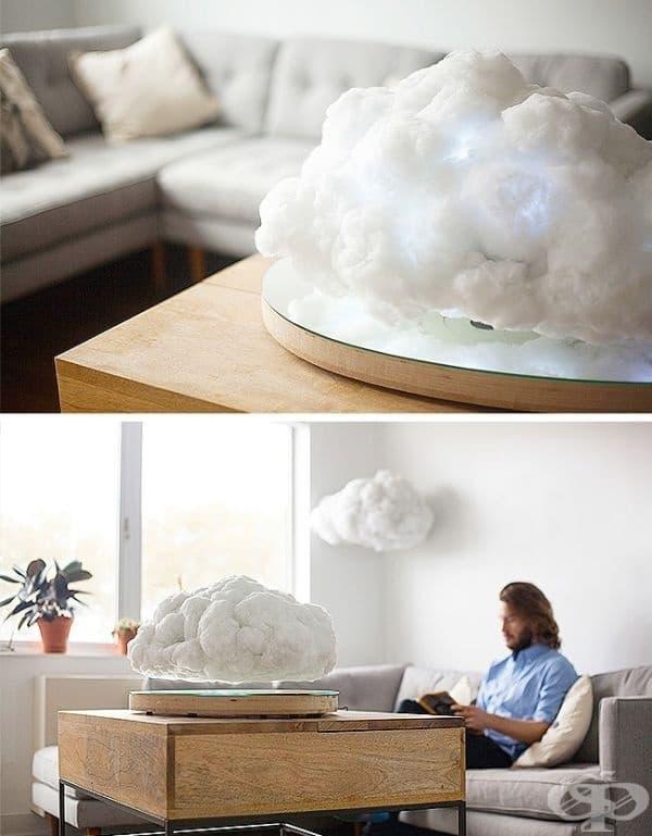 Нощна лампа във формата на буреносни облаци.