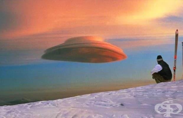 Този облак, който действително прилича на НЛО