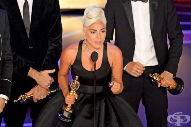 Емоционалната реч на Лейди Гага, след като спечели Оскар за най-добрата оригинална песен  - Shallow.