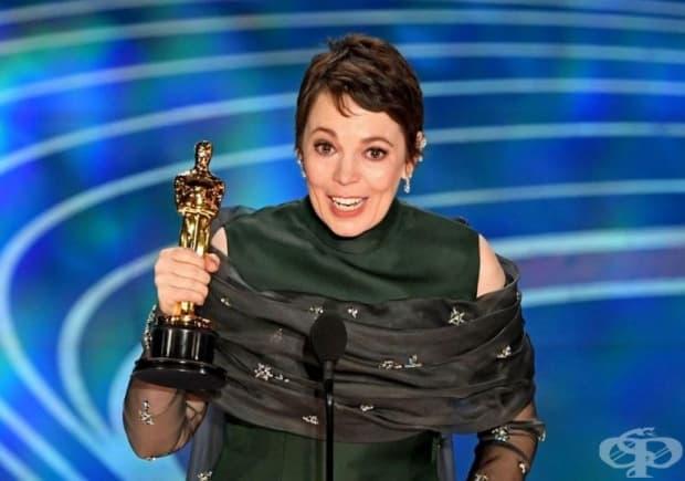 """В своята реч британската актриса споделя: """"Това е наистина много стресиращо. Това е забавно. Имам Оскар!"""""""