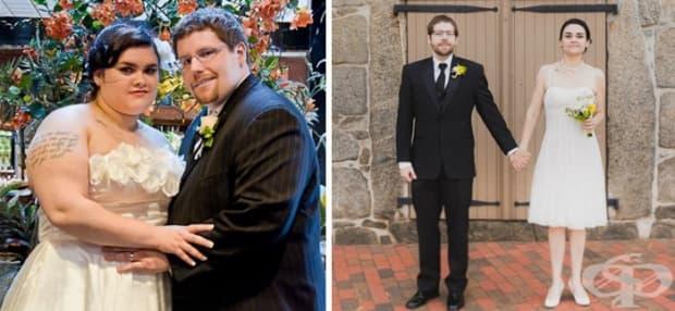 За 1,5 години жената свалила 49 кг, а съпругът й – 58 кг