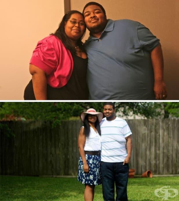 Тази двойка свалила общо 227 кг за повече от две години