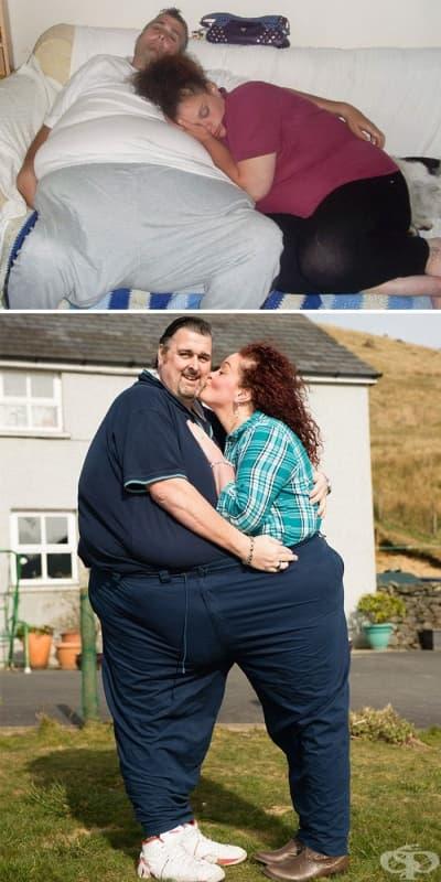 Тези двамата се влюбили в клиника за хора с наднормено тегло и свалили заедно 295 кг
