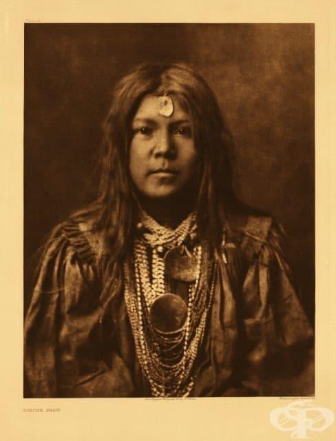 Още една снимана от Къртис девойка (1907 г.)