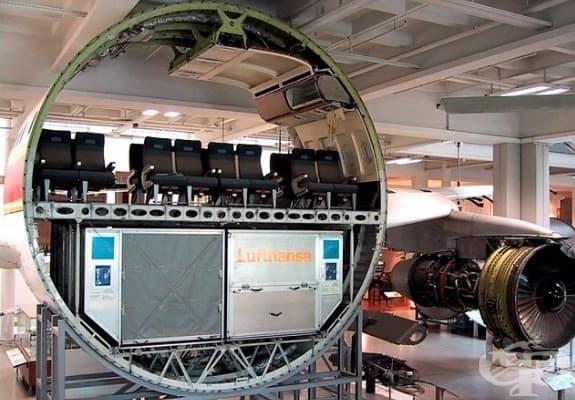 Разрез на пътнически самолет