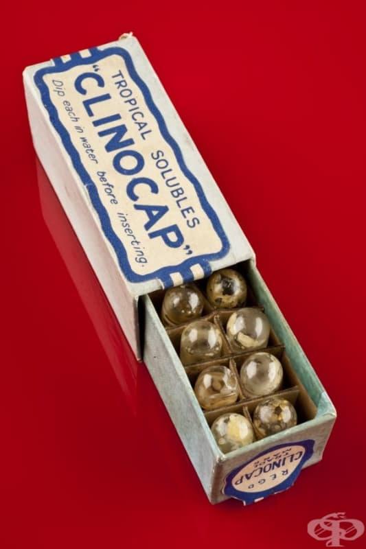 "Спермицидни песари ""Clinocap"" от 1925 година"